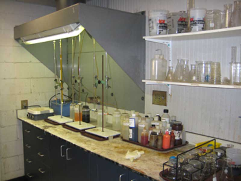 DIFCO's in-house chemistry lab is used to actively monitor chemical stores for environmental regulatory compliance.
