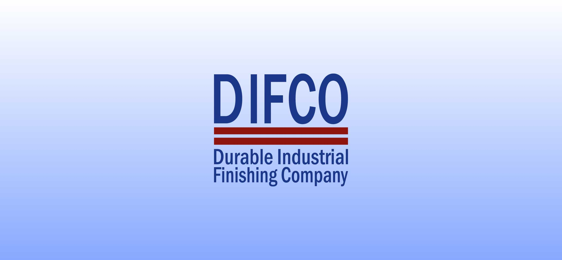 Formerly Dixie Industrial Finishing, DIFCO has designed a new logo to go with the name change to Durable Industrial Finishing Company.