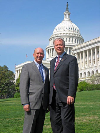 DIFCO vice-president, Jim Jones stands with GA Congressman Paul Broun in front of the Georgia state capitol.
